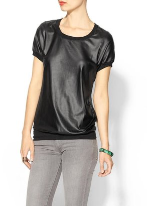 Juicy Couture Tinley Road Light Vegan Leather Top