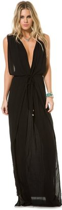 Indah Jade Cross Back Maxi Dress