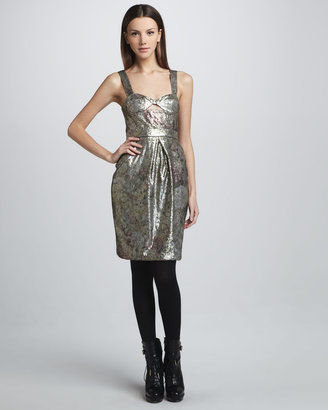 Burberry Sequined Floral Bustier Dress