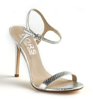 KORS Mikaela Snakeskin-Embossed Leather Sandals
