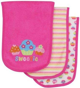 Gerber Baby-Girls 3 Pack Terry Burpcloths Cupcakes