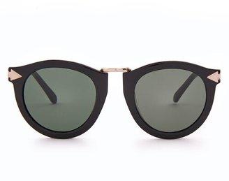 95d19e922b Karen Walker Harvest Round Acetate Sunglasses - Womens - Black
