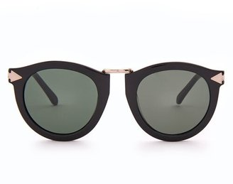 Karen Walker Harvest Round Acetate Sunglasses - Womens - Black