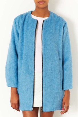 Topshop Soft Furry Bomber