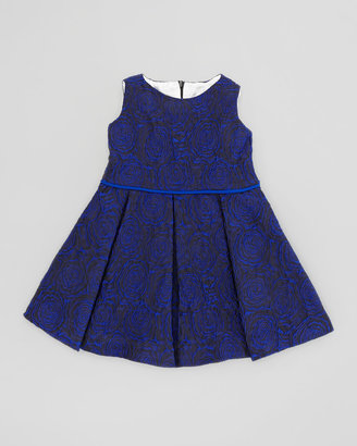 Helena Soft Rose Brocade Dress, Blue, Sizes 4-6X
