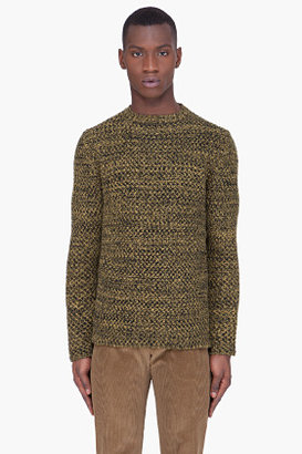 Marni Gold Wool Cashmere Knit Sweater
