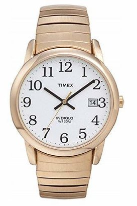 Timex Men's T2H301 Easy Reader 35mm Stainless Steel Expansion Band Watch