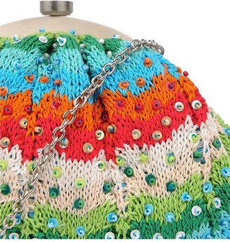 Santi Knit Clutch with Beads