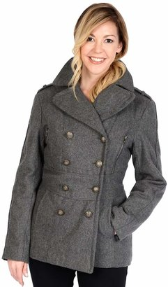 Excelled Military Wool Peacoat $160 thestylecure.com