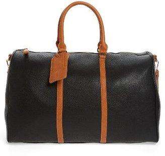 Sole Society 'Lacie' Faux Leather Duffel Bag - Black $84.95 thestylecure.com