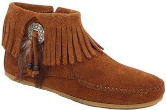 Minnetonka Concho Feather Side Zip Boots