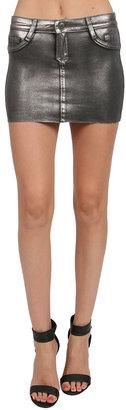 Bleu Lab Bleulab Detour Skirt in Mercury/ Grey Suede
