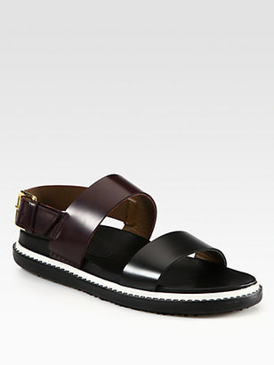 Marni Double Banded Leather Sandals