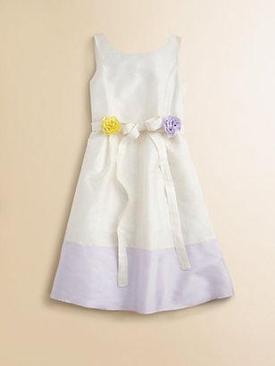 Us Angels Girl's Flower-Sash Satin Dress