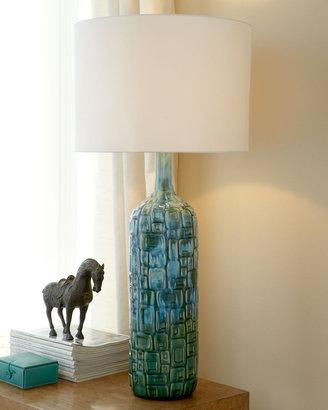 """Horchow """"Deco Squares"""" Ceramic Lamp"""