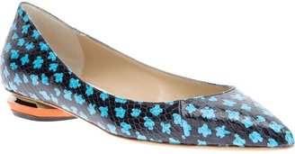 Nicholas Kirkwood patterned pointed toe pump