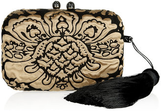 Kotur Margo satin and velvet brocade box clutch