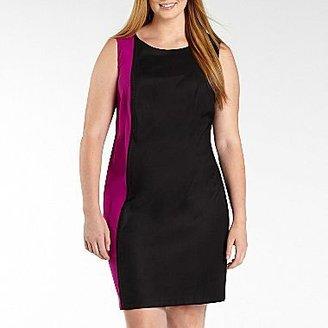 JCPenney Sleeveless Color Block Sheath Dress - Plus