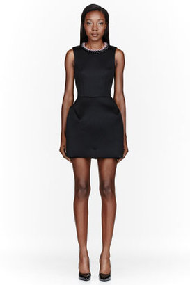 MSGM Black mesh Neoprene Dress