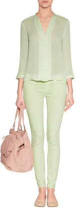 Adriano Goldschmied Light Lime Super Skinny Ankle Jeans