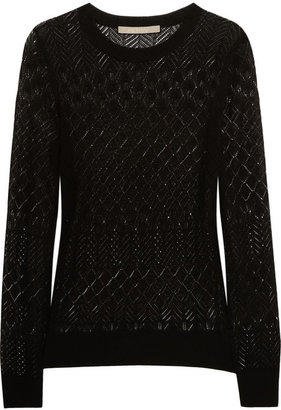 Jason Wu Pointelle-knit silk and cotton-blend sweater