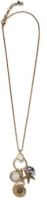 Lucky Brand Gold Sealife Charm Necklace