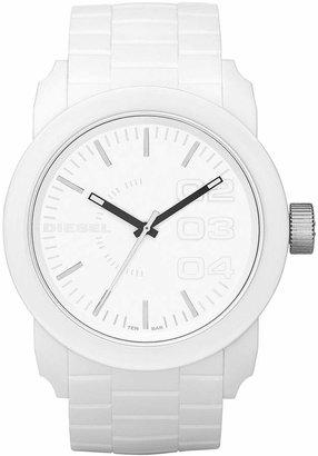 Diesel Unisex White Silicone Strap Watch 44mm DZ1436