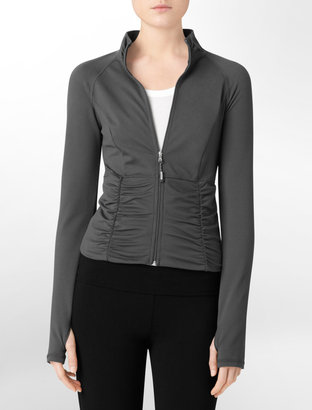 Calvin Klein Performance Ruched Warmup Jacket