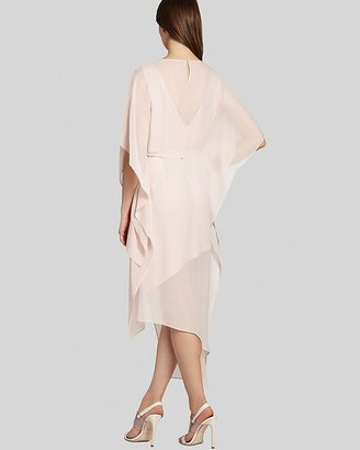 BCBGMAXAZRIA Dress - Suzy Draped Asymmetric Silk