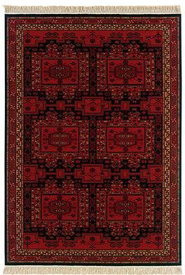 "Couristan Area Rug, Kashimar 8415/2215 Oushak Brick Red 5'3"" x 7'6"""