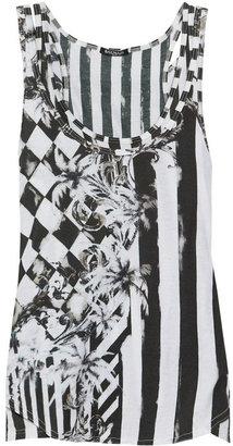 Balmain Printed double-layered cotton-jersey tank