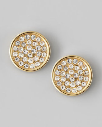 Rebecca Minkoff Pave Circle Stud Earrings
