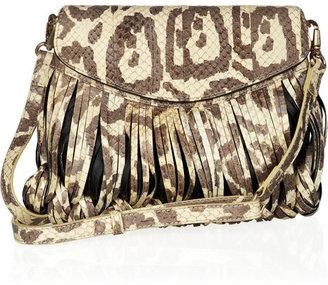 Katherine Kwei Donna snakeskin shoulder bag