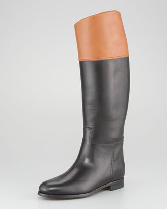 Ralph Lauren Sabella II Two-Tone Riding Boot