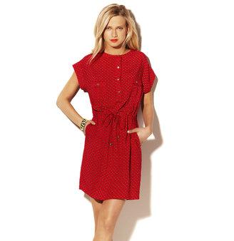 Vince Print Art Waist Dress