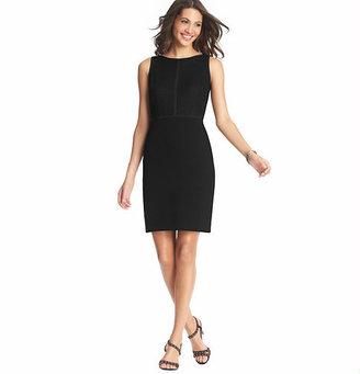 LOFT Tipped Lace Bodice Sheath Dress
