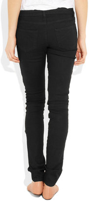 Superfine Tease zip-detailed mid-rise skinny jeans