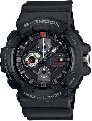 G-Shock Men's Chronograph Black Resin Strap Watch 53x55mm GAC100-1A