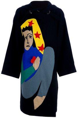 JC de CASTELBAJAC Vintage figure appliqué overcoat