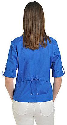 TanJay Petites Notch-Collar Jacket