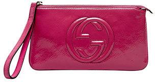 Gucci Soho Patent Leather Wristlet, Bright Bougainvillea