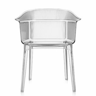Kartell Ghost Stacking Patio Dining Armchair (Set of 2 Color: Crystal