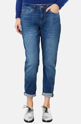 Topshop Moto Boyfriend Jeans (Mid Stone) (Short)