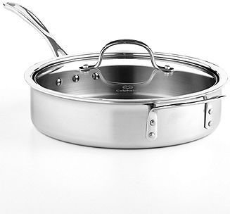 Calphalon Tri-Ply Stainless Steel 3 Qt. Covered Saute Pan