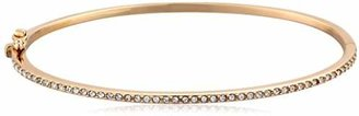"Judith Jack en Class"" Sterling Silver and -Tone Pave Crystal Bangle Bracelet"