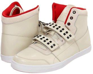 Reebok Dibello Mid Stud (Paperwhite/Excellent Red/Black) - Footwear