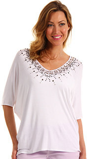 NYDJ Beaded V-Neck Top
