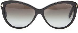 Tom Ford Telma Cat-Eye Sunglasses, Black