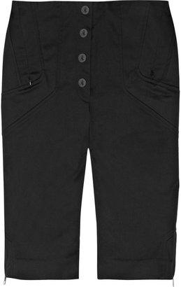 Karl Lagerfeld Payge paneled stretch-cotton shorts