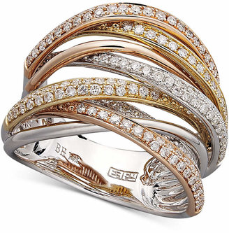 Effy Diamond Overlap Ring (3/4 ct. t.w.) in 14k Yellow Gold or Tri Color Gold